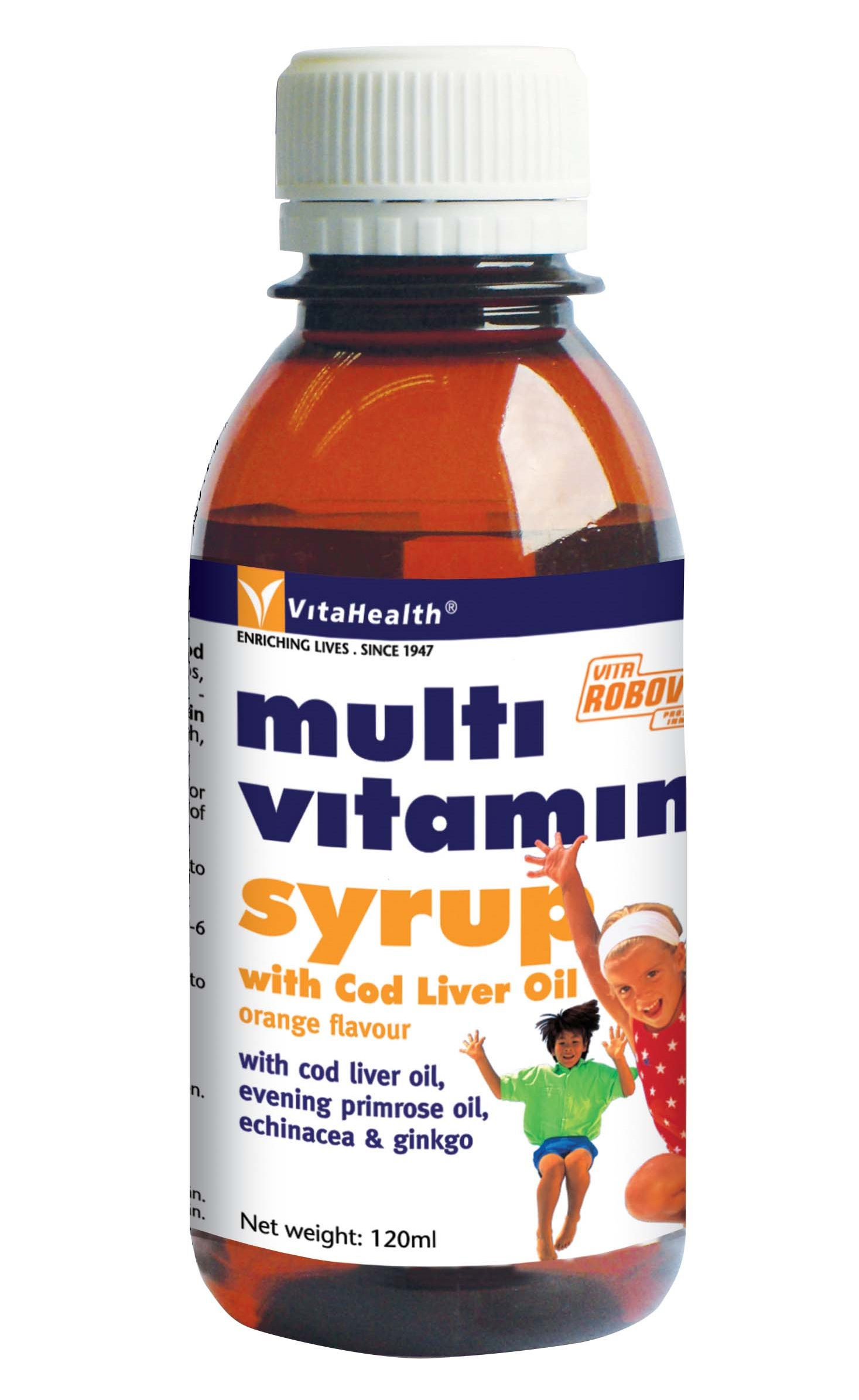 Food Supplement VH Robovites Multivitamin Syrup With Cod Liver Oil